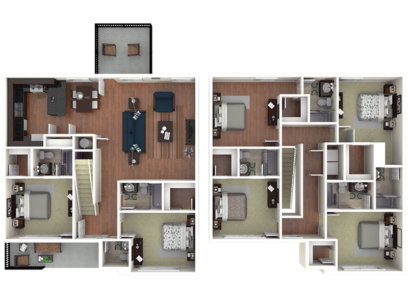 6 bedroom apartment