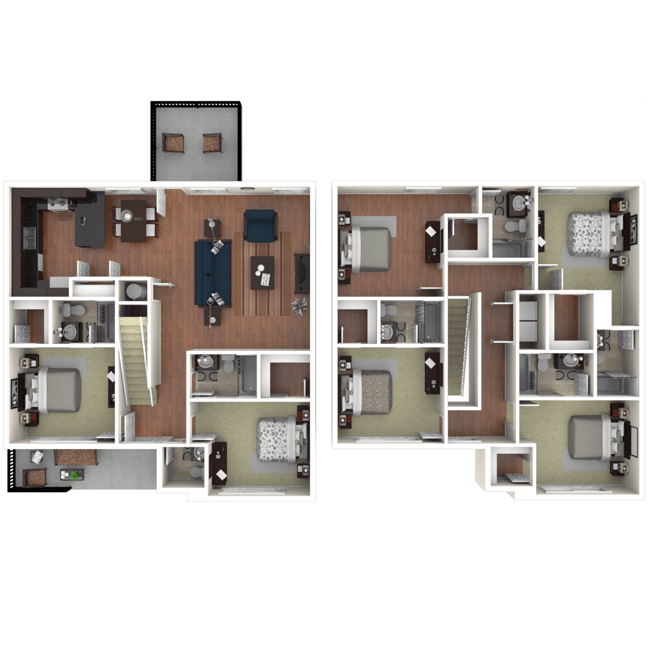 Apartment floor plans at the retreat at gainesville for The retreat floor plans