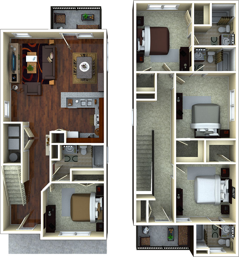 Apartment Floor Plans at The Retreat at Gainesville