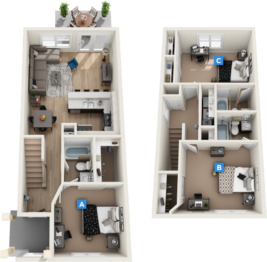 Retreat Apartments: Apartment Floor Plans At The Retreat At Gainesville